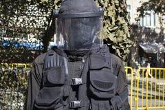 Czarny wojskowy uniform obraz stock