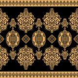 Czarny wschodni ornament Zdjęcia Royalty Free