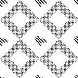 Czarny wzór z rhombuses Zdjęcie Stock