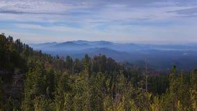Czarny wzgórze widok Fotografia Royalty Free