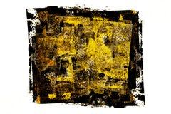 Czarny złocisty abstrakta kwadrata tło Obrazy Stock