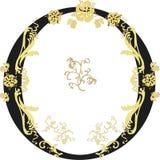 czarny złoty pierścionek Obraz Royalty Free