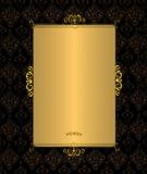 czarny złoto Fotografia Stock