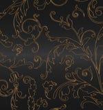 czarny złoto Obrazy Royalty Free