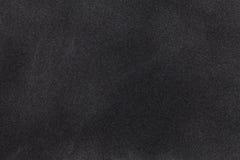 Czarny zamszowy tkaniny zbliżenie Aksamitna tekstura zdjęcie royalty free