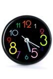 czarny zegar Obrazy Stock