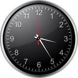 czarny zegar Zdjęcia Royalty Free