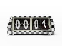 czarny zegar white Zdjęcie Stock