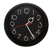 czarny zegarek Obrazy Stock
