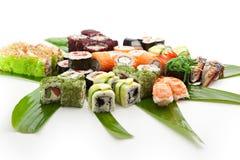 czarny zestaw strzały sushi Fotografia Royalty Free