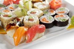 czarny zestaw strzały sushi Zdjęcie Royalty Free