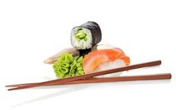 czarny zestaw strzały sushi Obraz Stock