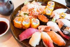 czarny zestaw strzały sushi Obrazy Stock