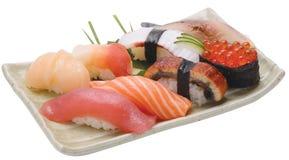 czarny zestaw strzały sushi Zdjęcia Royalty Free