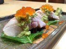 czarny zestaw strzały sushi Zdjęcie Stock