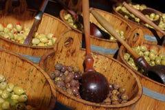 czarny zieleni rynku oliwki Obrazy Royalty Free