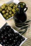 czarny zielone oliwki Zdjęcie Royalty Free