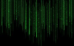 Czarny zielony binarny systemu kodu tło Zdjęcia Stock