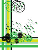 czarny zielony retro Zdjęcia Royalty Free