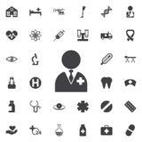 czarny zmiany lekarki ikony po prostu wektoru biel zdjęcia stock
