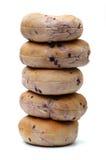 Czarnych jagod bagels Zdjęcie Stock