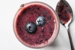 Czarnych jagod smoothies Obrazy Royalty Free