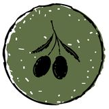 Czarnych oliwek ikony wektor Obrazy Royalty Free