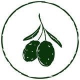 Czarnych oliwek ikony wektor Zdjęcie Stock