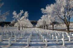 Czarnych wzgórzy Krajowy cmentarz Zdjęcia Stock
