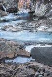 Czarodziejka baseny w zimie na wyspie Skye zdjęcia royalty free