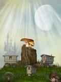 czarodziejka dom Obrazy Royalty Free