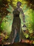 Czarodziejka Gaia royalty ilustracja