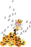 Czarodziejka Halloween śpiewa piosenkę. Fotografia Royalty Free