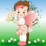 Czarodziejka stokrotka kwiaty ilustracja wektor