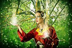 Czarodziejka w lesie Obrazy Royalty Free