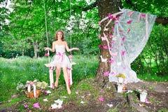 Czarodziejka w magicznym lesie Fotografia Royalty Free