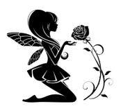 Czarodziejka z kwiatem ilustracja wektor