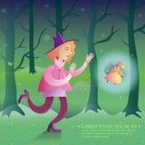 czarodziejka Z magii książką fantazj abstrakcjonistyczni tła Magiczna ilustracja royalty ilustracja