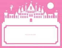 Czarodziejki i pałac szablonu karta Royalty Ilustracja