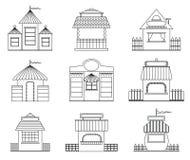 czarodziejscy domy Zdjęcie Stock