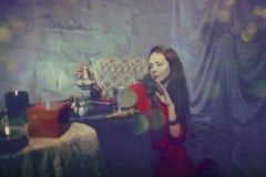 Czarodziejska czarownica robi magii lubi fantazję Obraz Stock