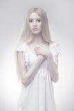 Czarodziejska dziewczyna w rozjarzonym świetle Fotografia Royalty Free