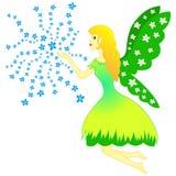 Czarodziejska kobieta i kwiaty - wiosna, bajka Zdjęcia Royalty Free