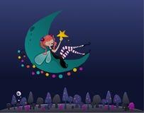 czarodziejska księżyc ilustracja wektor