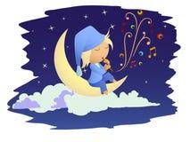czarodziejska księżyc muzyki noc ilustracji