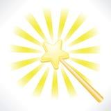 czarodziejska magiczna gwiazdowa różdżka ilustracja wektor