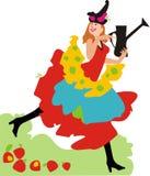 czarodziejska ogrodniczka obraz royalty free