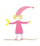czarodziejski dziewczyny ilustraci wektor Obrazy Royalty Free