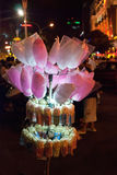 czarodziejski floss popkornu sprzedawca uliczny Vietnam Zdjęcia Stock