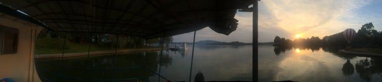 Czarodziejski Jeziorny rezerwuar w Xinyu mieście obrazy stock